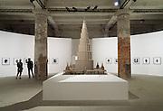 "55th Art Biennale in Venice - The Encyclopedic Palace (Il Palazzo Enciclopedico).<br /> Arsenale.<br /> Marino Auriti (U.S.A.), model of the ""Enceclopedic Palace"", 1955."