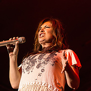 Jo Dee Messina performing  at Decatur Celebration, Decatur, Illinois, August 1, 2014. Photo: George Strohl