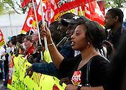 Confédération générale du travail protestors, May Day March, Paris, 1 May 2009