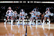 Feb. 4, 2012; Phoenix, AZ, USA; Phoenix Suns cheerleaders perform  prior to the first half at the US Airways Center. The Suns defeated the Bobcats 95 - 89. Mandatory Credit: Jennifer Stewart-US PRESSWIRE..