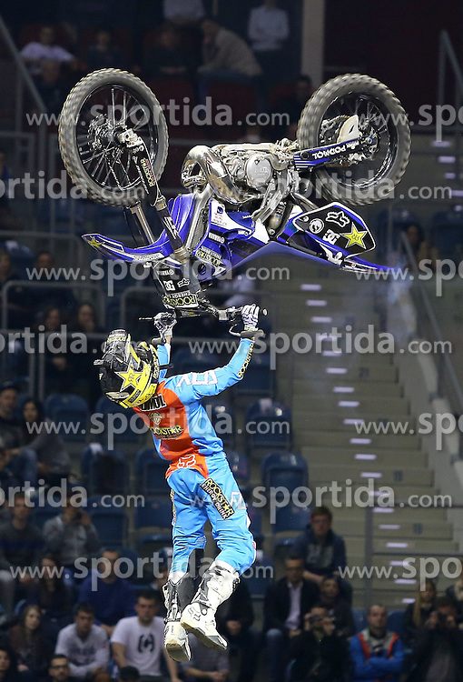 20.03.2015, Tauron Arena, Krakau, POL, Diverse night of the Jumps, FMX Weltmeisterschaft 2015, im Bild BRICE IZZO // during the diverse night of the jumps FMX world championchip 2015 at the Tauron Arena in Krakau, Poland on 2015/03/20. EXPA Pictures &copy; 2015, PhotoCredit: EXPA/ Newspix/ LUKASZ WIESZALA<br /> <br /> *****ATTENTION - for AUT, SLO, CRO, SRB, BIH, MAZ, TUR, SUI, SWE only*****