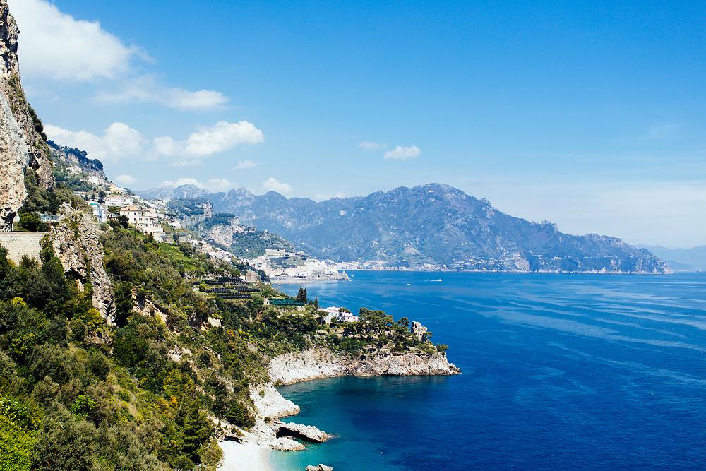 Coastline drive in Amalfi, Italy