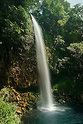 Anai waterfall offers an impressive view between Padang and Bukittinggi, west Sumatra.