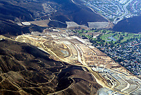 Nov 05, 2003; Los Angeles, CA, USA; Aerial photograph a golf course and homes saved south Ventura County by new urban housing development. All areas surrounding the plush green grass course and new dirt have been burned in the Southern California Wildfires.  Mandatory Credit: Photo by Shelly Castellano/ZUMA Press. (©) Copyright 2003 by Shelly Castellano