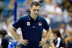 24.09.2011, Hala Pionir, Belgrad, SRB, Europameisterschaft Volleyball Frauen, Vorrunde Pool A, Serbien (SRB) vs. Frankreich (FRA), im Bild Zoran Terzic (Headcoach SRB) // during the 2011 CEV European Championship, First round at Hala Pionir, Belgrade, SRB, 2011-09-24. EXPA Pictures © 2011, PhotoCredit: EXPA/ nph/  Kurth       ****** out of GER / CRO  / BEL ******