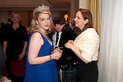 LADY DALMANY; ALEXANDRA ROBSON, The Royal Caledonian Ball 2011. In aid of the Royal Caledonian Ball Trust. Grosvenor House. London. W1. 13 May 2011.<br /> <br />  , -DO NOT ARCHIVE-© Copyright Photograph by Dafydd Jones. 248 Clapham Rd. London SW9 0PZ. Tel 0207 820 0771. www.dafjones.com.