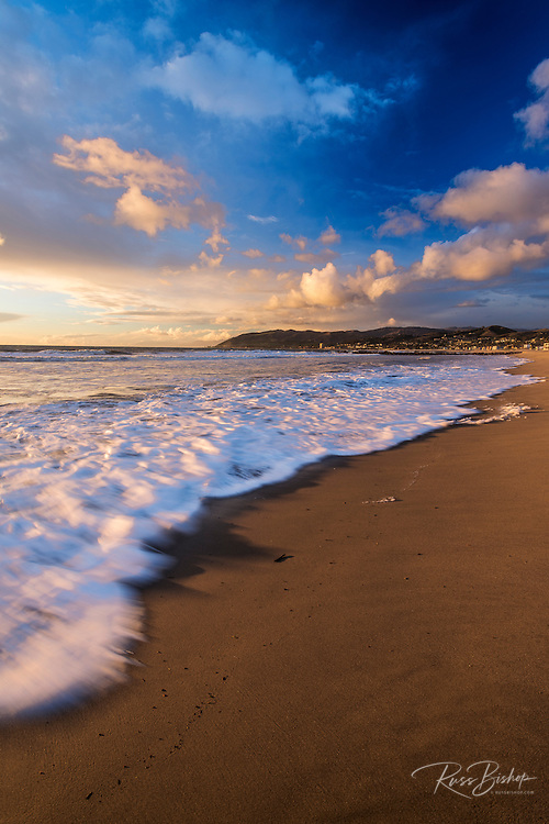 Sunset and surf, Ventura, California USA