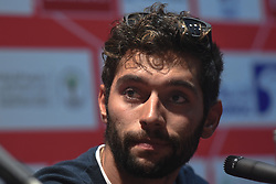 February 23, 2019 - Abu Dhabi, United Arab Emirates - Fernando Gaviria of Colombia and UAE Team Emirates, during Top Riders press conference inside the Louvre Abu Dhabi Museum..On Saturday, February 23, 2019, Abu Dhabi, United Arab Emirates. (Credit Image: © Artur Widak/NurPhoto via ZUMA Press)