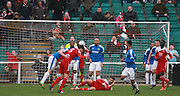 Whitehawk on the attack during the FA Trophy match between Whitehawk FC and Dover Athletic at the Enclosed Ground, Whitehawk, United Kingdom on 12 December 2015. Photo by Bennett Dean.