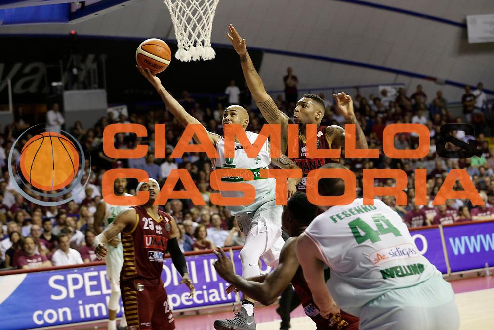 David Logan<br /> Umana Reyer Venezia - Sidigas Scandone Avellino<br /> Lega Basket Serie A 2016/17 Semifinali Gara 01<br /> Venezia, 26/05/2017<br /> Foto Ciamillo-Castoria / M. Brondi