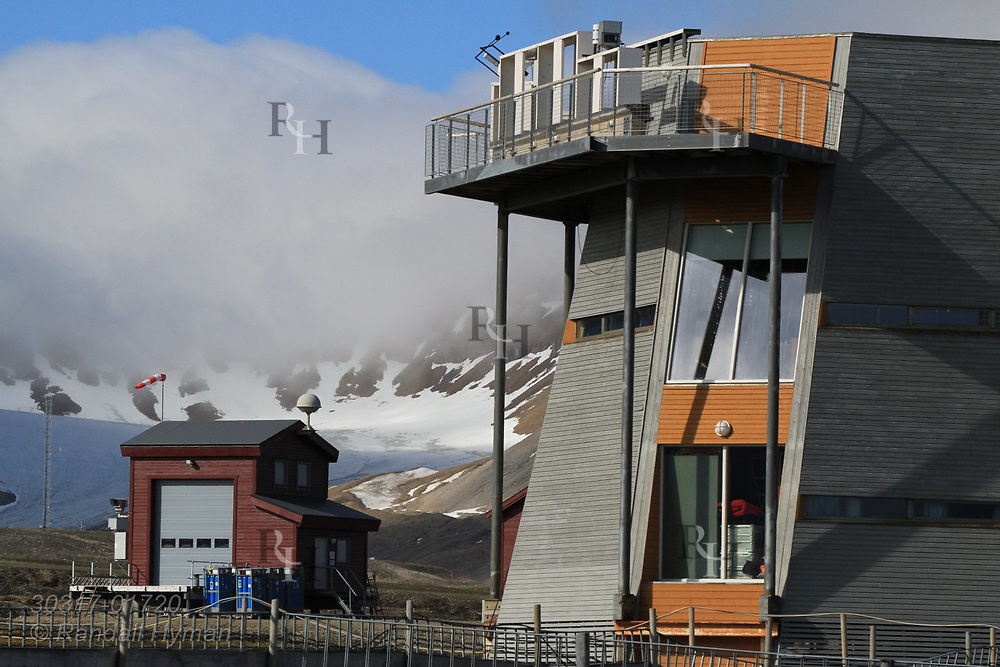 Norwegian Polar Institute has the largest research station at the international science village of Ny-Alesund; Spitsbergen, Svalbard, Norway.