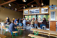 The Cascade Brewing Barrel House in the Southeast neighborhood of Portland, Oregon specializes in barrel-aged sour beers.