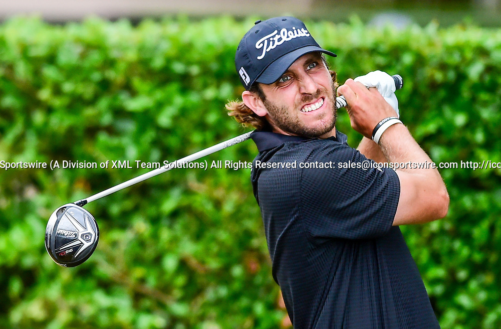 May 29, 2015: Andrew Loupe tees off on #1 during second round play of the AT&T Byron Nelson Championship at TPC Four Seasons in Irving, Texas.