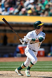 OAKLAND, CA - APRIL 17:  Chris Coghlan #3 of the Oakland Athletics hits a double against the Kansas City Royals during the seventh inning at the Oakland Coliseum on April 17, 2016 in Oakland, California.  The Oakland Athletics defeated the Kansas City Royals 3-2. (Photo by Jason O. Watson/Getty Images) *** Local Caption *** Chris Coghlan