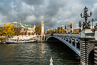 Pont Alexandre III Alexander the third bridge in the city of Paris in france