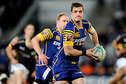 Michael Collins of Otago makes a break during the Mitre 10 Competition match between Otago and Wellington at Forsyth Barr Stadium on August 25, 2016 in Dunedin, New Zealand. Credit: Joe Allison / www.Photosport.nz