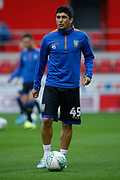 Fernando Forestieri of Sheffield Wednesday warming up for the EFL Cup match between Rotherham United and Sheffield Wednesday at the AESSEAL New York Stadium, Rotherham, England on 28 August 2019.
