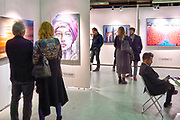 Nederland, Amsterdam, 4-11-2018 AAF, The Affordable Art Fair in de kromhouthal . Dit is een kunstbeurs voor betaalbare moderne kunst. Foto: Flip Franssen