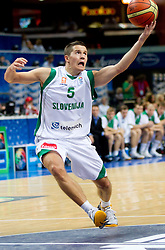 Jaka Lakovic of Slovenia during basketball game between National basketball teams of Slovenia and Greece at FIBA Europe Eurobasket Lithuania 2011, on September 8, 2011, in Siemens Arena,  Vilnius, Lithuania. Greece defeated Slovenia 69-60.  (Photo by Vid Ponikvar / Sportida)