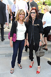 Left to right, SUE CHALOM and NATHALIE HAMBRO at a party at the Serpentine Gallery, Kensington Gardens, London to unveil their summer Pavilion designed by Frank Gehry on 20th July 2008.<br /> <br /> NON EXCLUSIVE - WORLD RIGHTS