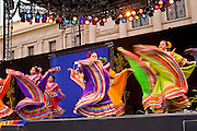 14 FEBRUARY 2012 - PHOENIX, AZ:   Members of Ballet Folklorico Esperanza perform during the centennial party at the State Capitol in Phoenix, Feb 14. Arizona's statehood day is February 14 and this year Arizona marked 100 years of statehood. It was the last state in the 48 contiguous United States. PHOTO BY JACK KURTZ