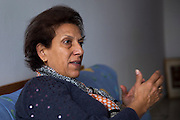 En Tunisie la peur s'installe. Le celèbre avocate et defenseur des droits de l'homme, Radhia Nasraoui, amie de Chokri Belaid.  Son mari, Hamma Hammami, secretaire generale du front populaire figure sur une liste noire des personnes a assasiner, publie sur des pages facebook salafistes.. Tunis, 10-02-2013