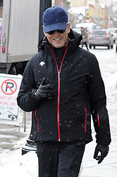 EXCLUSIVE: Pierce Brosnan looks winter ready in a full snow outfit as he arrives at The Sundance Film Festival! Pierce looked stylish wearing a black outfit at the festival and went incognito at the festival wearing sunglasses and a baseball cap in the snowy weather. The former James Bond star was spotted walking down Main St in Park City. 23 Jan 2017 Pictured: Pierce Brosnan. Photo credit: Atlantic Images / MEGA TheMegaAgency.com +1 888 505 6342