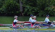 Lucerne, SWITZERLAND,  women's double. USA W2X Bow, Carol SKRICKI and Ruth DAVIDON.  2000 FISA World Cup, Rotsee Rowing Course, June 2000.  [Mandatory Credit, Peter Spurrier/Intersport-images] 2000 FISA World Cup, Lucerne, SWITZERLAND