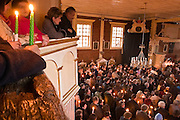 15.04.2006 Chynow  near Grojec Poland. Easter Eve (fire consecration) in the oldest church of larch on Mazovia (built 1303-1434) photo. Piotr Gesicki