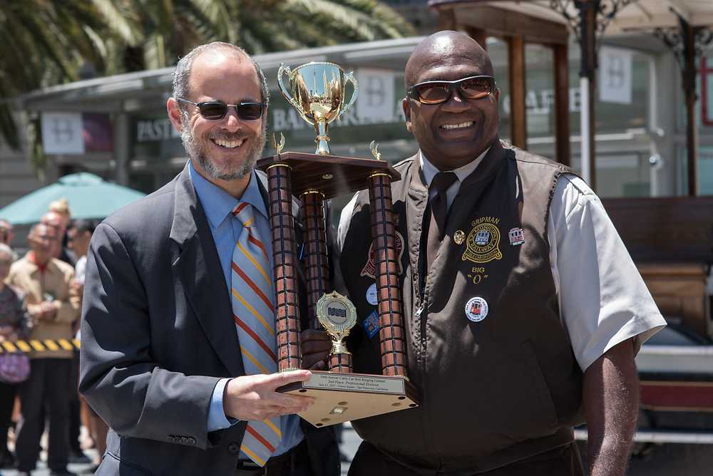 Leonard Oats Winning 2nd Place at the 54th Annual Cable Car Bell Ringing Contest | July 13, 2017