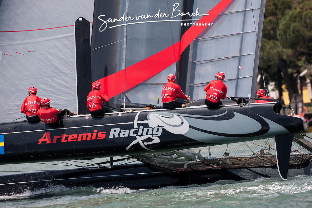Second day of Racing, Friday, May 18th 2012, AC45 World Series Venice.