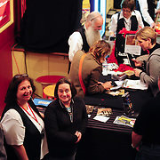 MH Volunteers in line while Amy Correia (singer) signs CDs in the Lobby during Marc Cohn concert at The Music Hall
