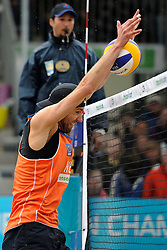 03-06-2012 VOLLEYBAL: EK BEACHVOLLEYBAL FINAL: SCHEVENINGEN<br /> Emiel Boersma<br /> &copy;2012-FotoHoogendoorn.nl