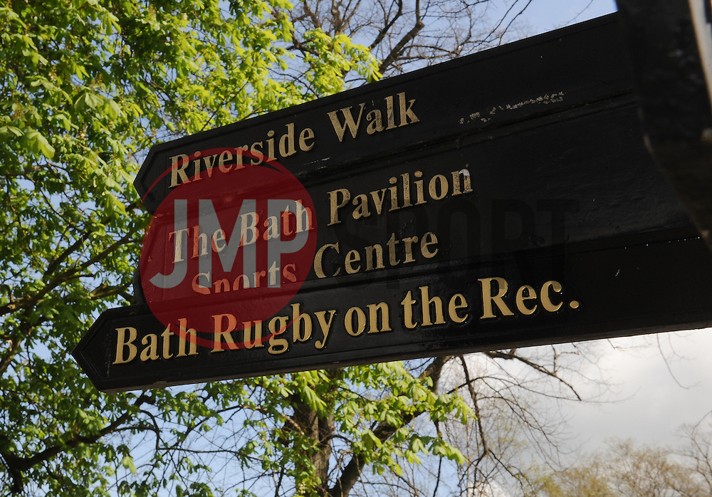 General view of a sign post.  - Mandatory by-line: Alex Davidson/JMP - 23/04/2016 - RUGBY - Recreation Ground - Bath, England - Bath Rugby v Sale Sharks - Aviva Premiership