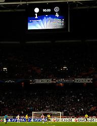 21-11-2012 VOETBAL: CL AFC AJAX - BORUSSIA DORTMUND: AMSTERDAM<br /> Ajax verliest kansloos van Dortmund met 4-1 / Scorebord met 4-1 op de borden, stadion sfeer uitslag<br /> ©2012-FotoHoogendoorn.nl