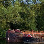 Two river barges on the River Don in Yorkshire