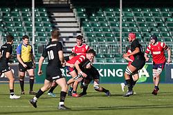 Fergus Dick of Bristol Bears U18 is tackled - Mandatory by-line: Arron Gent/JMP - 12/01/2020 - RUGBY - Allianz Park - London, England - Saracens U18 v Bristol Bears U18 - Premiership U18 Academy