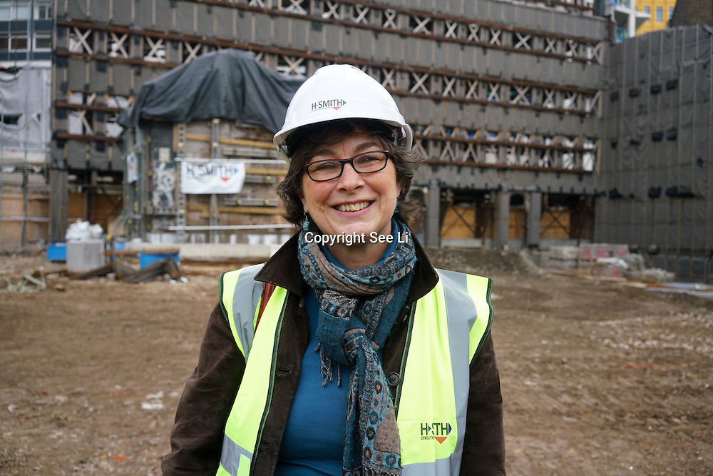 Councillor Sue Vincent from London Borough of Camden join Night Czar, Amy Lamé, visits site of two new music venues on site 4th floor down the basement at the iconic Denmark Street. The project looking round 100-150 millions GBP on 9th December 2016, London,UK. Photo by See Li