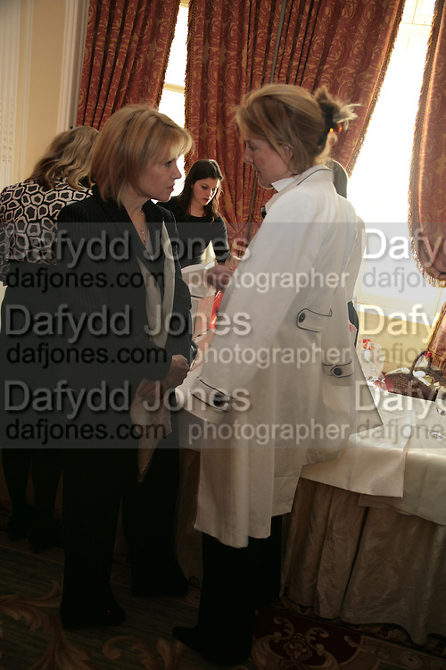 Mrs. Pierre Winkler and Mrs. Jonathan Agnew, NCH Spring Ladies lunch. NCH, the children's charity, helps children and young people facing difficulties or challenges in their lives. Mandarin Oriental Hotel. 8 March 2007.  -DO NOT ARCHIVE-© Copyright Photograph by Dafydd Jones. 248 Clapham Rd. London SW9 0PZ. Tel 0207 820 0771. www.dafjones.com.