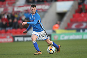 16 year old Dan Adshead during the The FA Cup 3rd round match between Doncaster Rovers and Rochdale at the Keepmoat Stadium, Doncaster, England on 6 January 2018. Photo by Daniel Youngs.