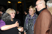 JOANNA LUMLEY; BOBBY GOLDMAN; JENNIFER SAUNDERS; ADRIAN EDMONSON, Party following the Theatre Royal press night performance of The Lion in Winter , The Institute of Directors. London. 15 November 2011. <br /> <br />  , -DO NOT ARCHIVE-© Copyright Photograph by Dafydd Jones. 248 Clapham Rd. London SW9 0PZ. Tel 0207 820 0771. www.dafjones.com.