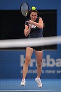Brisbane, Australia, December 30: Jelena Jankovic of Serbia plays a backhand shot during a training session at Pat Rafter Arena ahead of the 2012 Brisbane International Tennis Tournament in Brisbane, Australia on Friday December 30th, 2011. (Photo: Matt Roberts/Photo News)