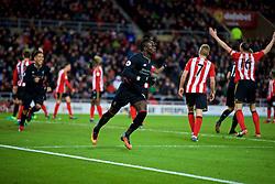 SUNDERLAND, ENGLAND - Monday, January 2, 2017: Liverpool's Sadio Mane celebrates scoring the second goal against Sunderland during the FA Premier League match at the Stadium of Light. (Pic by David Rawcliffe/Propaganda)