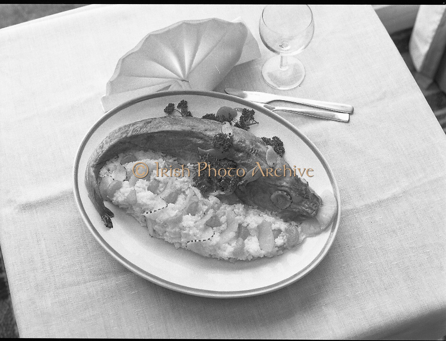 """The National Fish Cookery Award""..1982.29.04.1982..04.29.1982.29th April 1982.""The National Fish Cookery .This competition sponsored by Bord Iascaigh Mhara was held in The Clare Inn, Newmarket-on Fergus,Co Clare. the competition was open to schools across the country..""Pineapple stuffed cod"", the winning entry from Catherine O'Sullivan,(15),Vocational School, Rathdowney,Co Laois"
