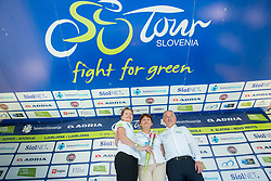 Sonja Gole, Mojca Novak and Bogdan Fink after the last Stage 4 of 24th Tour of Slovenia 2017 / Tour de Slovenie from Rogaska Slatina to Novo mesto (158,2 km) cycling race on June 18, 2017 in Slovenia. Photo by Vid Ponikvar / Sportida