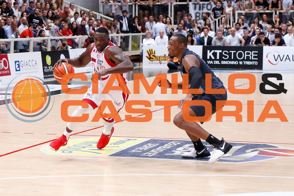 Sanders Rakim<br /> Dolomiti Energia Aquila Basket Trento - EA7 Emporio Armani Olimpia Milano<br /> Semifinale Gara 4, Lega Basket Serie A 2016/2017<br /> PalaTrento 31/05/2017<br /> Foto Ciamillo-Castoria / M.Brondi