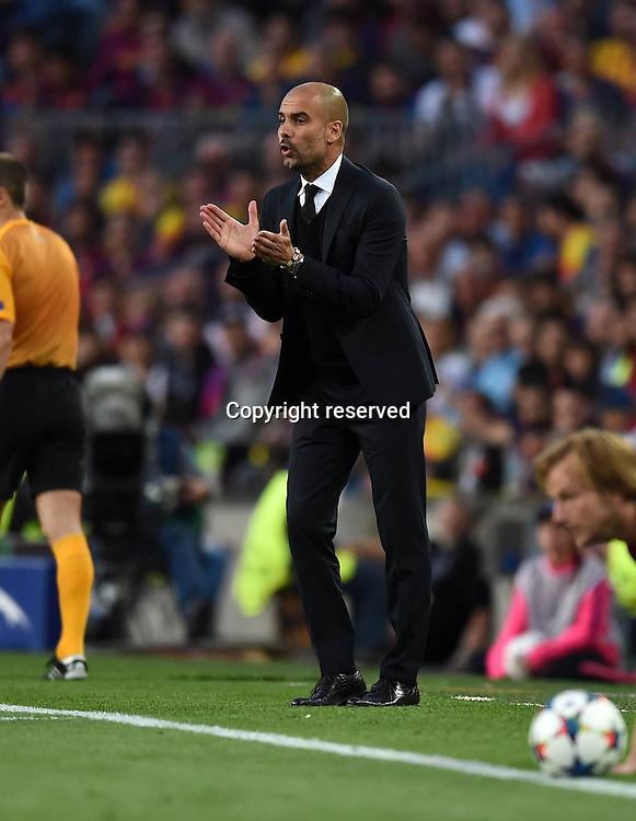 06.05.2015. Nou Camp, Barcelona, Spain, UEFA Champions League semi-final. Barcelona versus Bayern Munich.  Trainer Pep Guardiola (FC Bayern Munich)