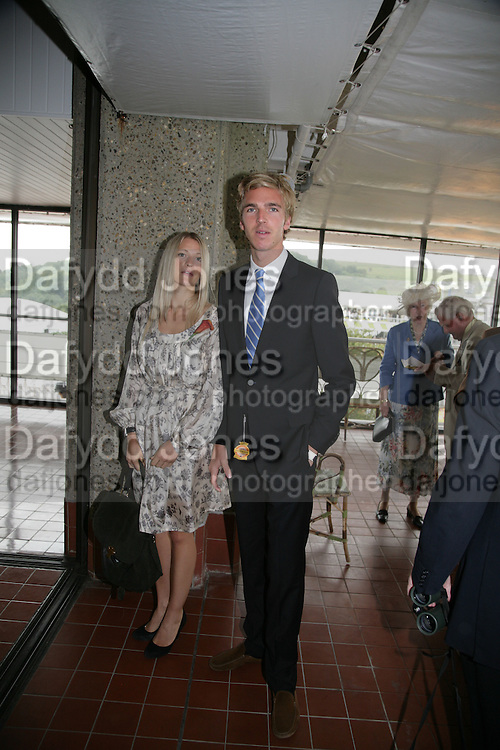 Lady Alexandra Gordon-Lennox and James Cook, Glorious Goodwood. 2 August 2007.  -DO NOT ARCHIVE-© Copyright Photograph by Dafydd Jones. 248 Clapham Rd. London SW9 0PZ. Tel 0207 820 0771. www.dafjones.com.
