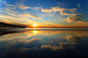 San Clemente Beach Reflections