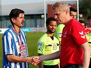 FODBOLD: Anfører Hulusi Dolar (Snekkersten) får overrakt guldmedalje efter finalesejren i Seriepokalen mellem Hundige Boldklub og Snekkersten IF den 18. maj 2017 på Brøndby Stadion. Foto: Claus Birch